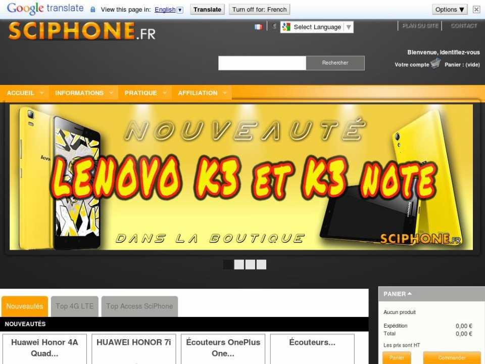Sciphone.fr: boutique d'accessoires pour smartphones