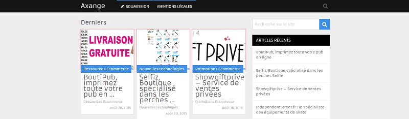Axange.fr: guide de boutiques en ligne