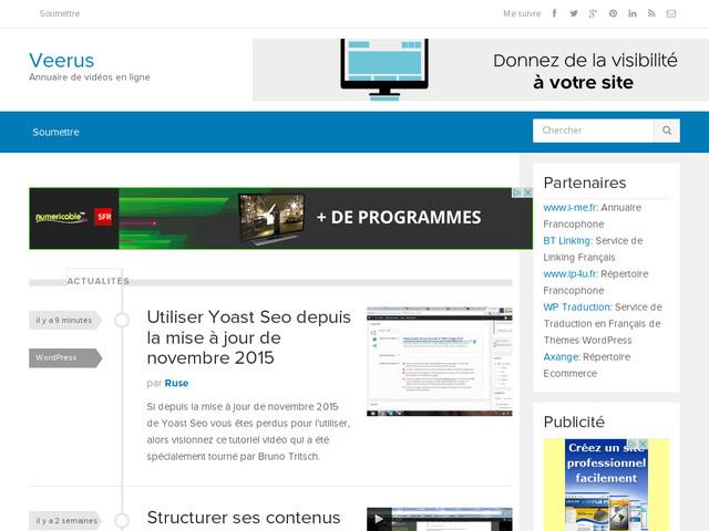 Veerus.fr: portail de vidéos en ligne